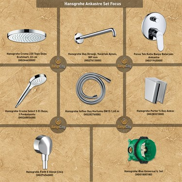 Hansgrohe Focus Ankastre Set